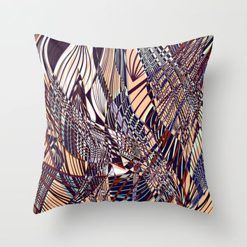 SWEEPING LINE PATTERN I Throw Pillow by Pia Schneider [atelier COLOUR-VISION]