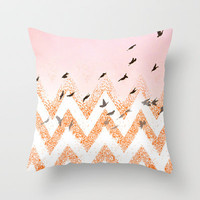 flying Throw Pillow by Marianna Tankelevich