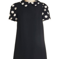 ModCloth Vintage Inspired Short Length Short Sleeves Shift Classic Cutie Dress