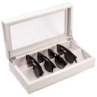 Lacquer Eyeglass Case, White, Sunglasses Storage