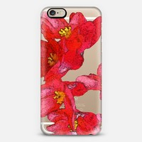 my red flowers iPhone 6 case by Julia Grifol Diseñadora Modas-grafica | Casetify
