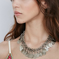 Raga Etched Coin Necklace