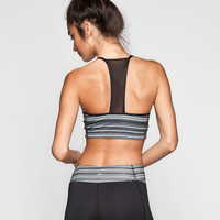 Full Tilt Sport Printed T Back Sports Bra Black/White  In Sizes