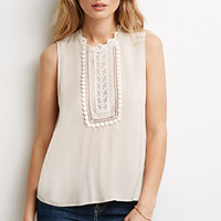 Embroidered High-Neck Top