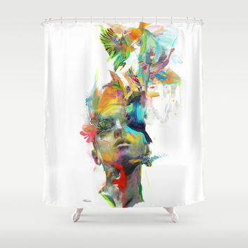 Dream Theory Shower Curtain by Archan Nair
