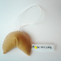 Fml Funny Fortune Cookie ornament Christmas decoration MATURE