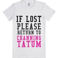 If Lost Channing-Female White T-Shirt