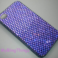HELIOTROPE Crystal Diamond Rhinestone BLING Back Case for Apple iPhone 4 4G 4S made with Swarovski Elements