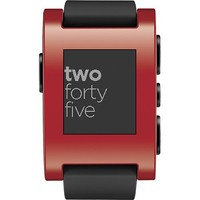 Pebble - Smart Watch for Select Apple® and Android Devices - Red