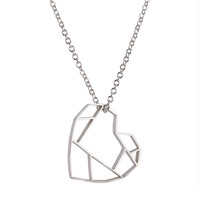 Pico: Faceted Heart Necklace