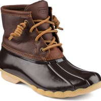 Sperry Top-Sider Saltwater Duck Boot Tan/DkBrown, Size 12M  Women's Shoes