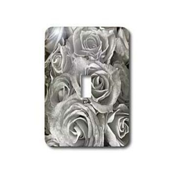 3dRose LLC lsp_29902_1 Close Up Scene of Dreamy Soft Silver Gray Roses Single Toggle Switch