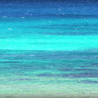 Beach Photography of Turquoise and Cobalt Blue Sea by beachbumchix