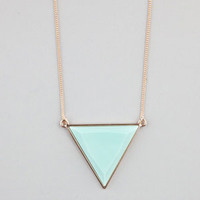 Full Tilt Facet Triangle Necklace Gold One Size For Women 22883362101
