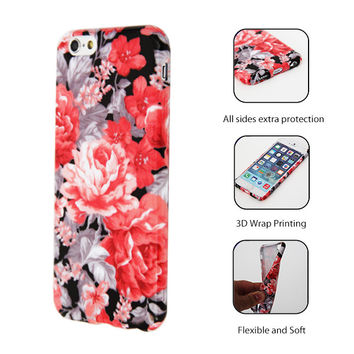 Stylish Floral Pattern iPhone 6 Plus/6/5S/5C/5/4S/4 Protective Case 145