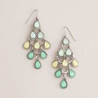 Green and Yellow Tiered Chandelier Earrings   World Market
