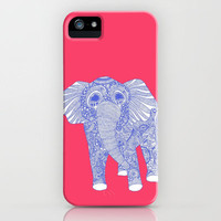 ornate Ellie in blue iPhone Case by lush tart | Society6