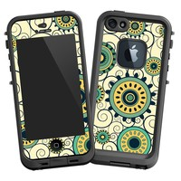 """Swirls Yellow """"Protective Decal Skin"""" for LifeProof fre iPhone 5/5s Case"""