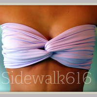 Etsy Transaction -          Lilac Bandeau Top Spandex Bandeau Bikini Swimsuit