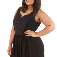 ModCloth Boho Short Length Sleeveless Get Your Chic On Romper in Plus