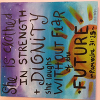 Bible Verse Canvas Painting