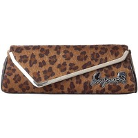 "Women's ""Party"" Clutch by Sourpuss Clothing (Tan Leopard)"
