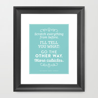The Office Dunder Mifflin - More Cubicles Framed Art Print by Noonday Design