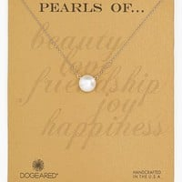 Women's Dogeared Boxed Freshwater Pearl Necklace - Pearl /