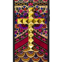 Flora Royalle Gold Studded Cross iPhone 5c Case