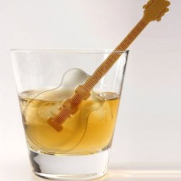 Fred and Friends COOL JAZZ Guitar Ice Tray and Stirrers