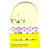 Large Kitty Cat Paw Shaped Animal Themed Memo Post-it Index Sticky Pad Bookmark Tabs