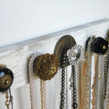 Accessories Rack with Black and Brass Knobs by AuntDedesBasement