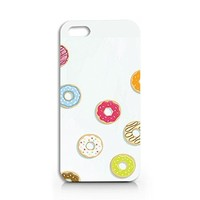 Craftdesign Durable Plastic Slim Case for Iphone 5/5s, Iphone 6, Iphone 6 Plus, COLORFUL DONUTS (IPHONE 5/5S)