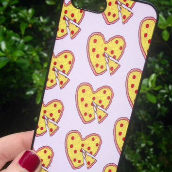 Iphone 6 Phone Case Heart Shaped Pizza Print Hipster Phone Cover