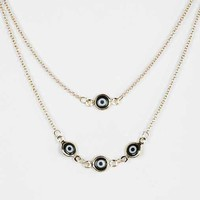 Evil Eye High/Low Necklace- Black One