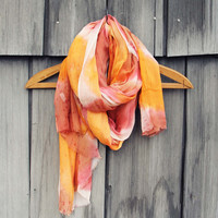 Dream Lake Scarf in Sunset