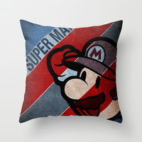 SUPER MARIO Throw Pillow by Sbs' Things