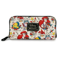 """""""Ariel Tattoo Print"""" Pebble Wallet by Loungefly (Biege)"""