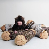 Long Cotton Wood Tree Log Bolster Pillow - 10% for our Facebook fans