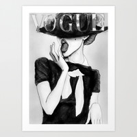 Vogue in monochrome Art Print by studio 15 collective