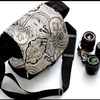 DSLR  Camera Bag Messenger Travel Style With by sizzlestrapz