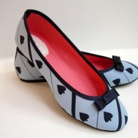 Alice of course handmade ballet flats by DeBonisOrquera on Etsy