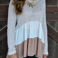 We'll Always Have Paris Taupe Flowy Top