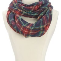 Lightweight Plaid Infinity Scarf by Charlotte Russe