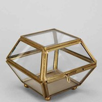 Magical Thinking Faceted Glass Vanity Box- Gold One