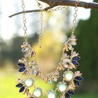 Radiating Style Necklace in Mint