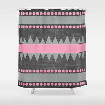 Aztec Shower Curtain by Her Art