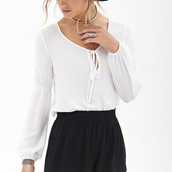 FOREVER 21 Crepe Woven Shorts