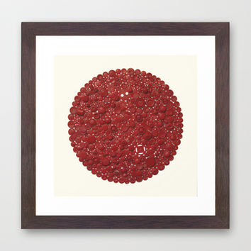 Red Target Framed Art Print by Project M