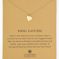 Women's Dogeared 'Reminder - Dog Lover' Boxed Pendant Necklace